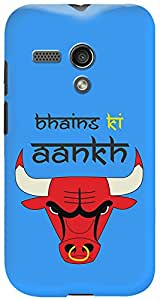 Kasemantra Bhains Ki Aankh Blue Case For Motorola Moto G