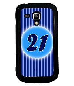 Printvisa 2D Printed Numerology Designer back case cover for Samsung Galaxy S Duos S7562 - D4241
