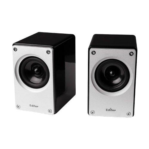 Edifier MP210, Stereo-Soundsystem mit 2x 3W Satelliten, schwarz/weiß
