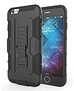 iPhone 6s Case, CellEver [Endure Series] Slim Hard Holster Case with Kickstand and Swivel Belt Clip [Triple Layer Protection] for Apple iPhone 6 and iPhone 6S (4.7 ) - Black