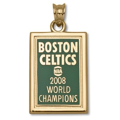 2008 NBA Champs Boston Celtics 7/8in. 14kt Gold/14kt Yellow Gold