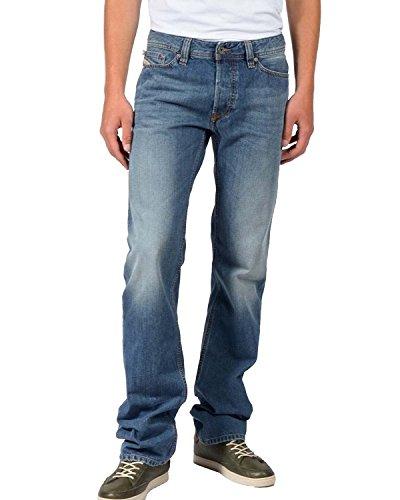 DIESEL - Jeans da Uomo VIKER R90L - Regular - Straight - Non Stretch - blu, W33 / L30