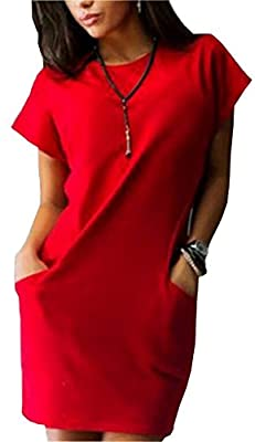 Face N Face Women's Short Sleeve Evening Party Cocktail Mini Dress with Pockets