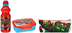 Marvel Avengers back to School stationery combo set, 499, Multicolor