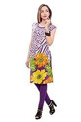 Kurti Studio Festive Purple Unstitched Cotton Kurti Dress Material