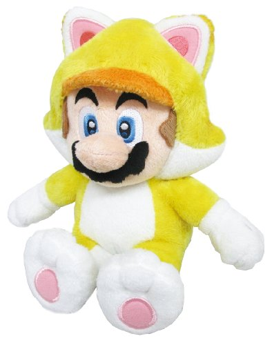 "Sanei Super Mario 3D World Neko Cat Mario 9"" Plush Doll"