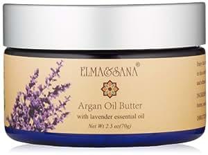 ELMA&SANA Elma and Sana Argan Oil Whipped Moisturizer for Skin, Hair, Nail and Feet, Body Butter, 2.5 Ounce
