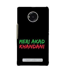 Meri Akad Khandani Cute Fashion 3D Hard Polycarbonate Designer Back Case Cover for YU Yuphoria :: YU Yuphoria YU5010