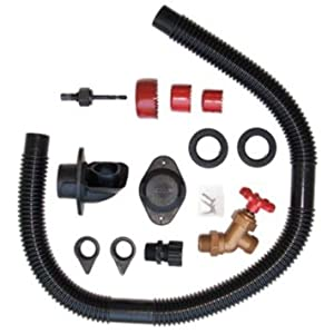 Rain Water Diverter for use with all brands rain barrels - Easy to Install- Includes keyhole saw blade plus rubber parts- Illustrated instructions and includes winter gutter plug .