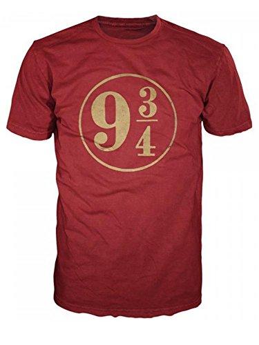 Harry Potter 9 3/4 Mens Red T-Shirt (Medium)
