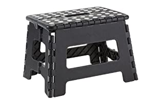 Home-it Folding Childeren Step Stool 11 In. Black