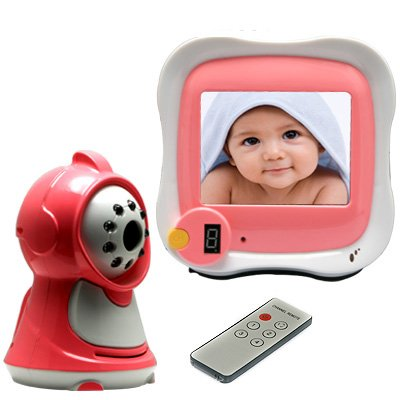 Wireless Night Vision Baby Monitor With 3.5 Inch Widescreen Monitor - Camera W/ Built-In Microphone New
