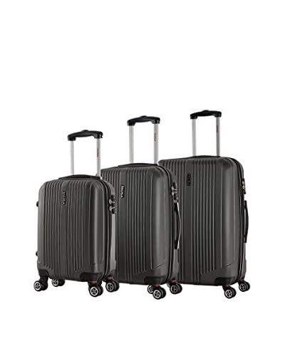InUSA San Francisco 3-Piece Hardside Luggage Set, Charcoal