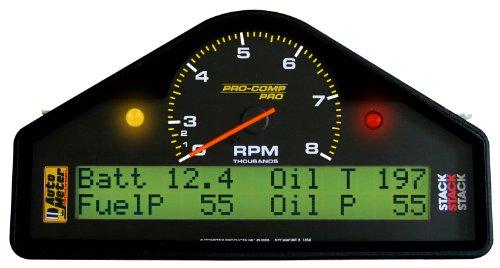 Auto Meter 6012 0-3000-8000 Rpm Race Dash Tachometer And Speedometer Gauge