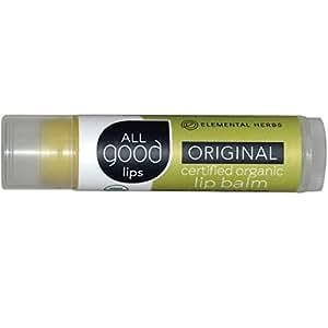 Elemental Herbs All SPF 12 Good Lips Balm, Original Organic, 4.25 Gram