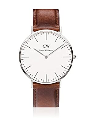 Daniel Wellington Reloj con movimiento cuarzo japonés Man St Andrews blanco/gris 40 mm