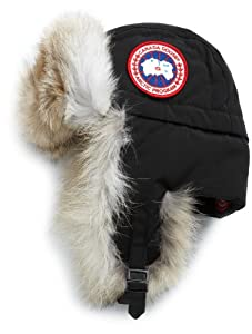 Canada Goose Men's Aviator Hat,Black,Small-Medium