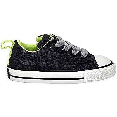 Converse Chuck Taylor All Stars Street Kids Toddler Shoes - Neon Pops N Iron Sharp Green - UK 2 (Toddler)