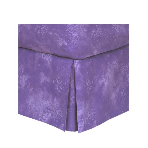 Purple Lilac - Bedskirt - Twin front-1001483