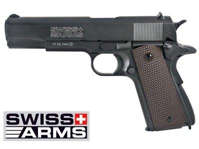 Swiss Arms 1911 4.5mm Full Metal Co2 Blowback Pistol, Box