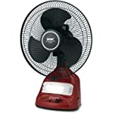 Orbit Prbit RF-1295 3 Blade Table Fan(Maroon: Black)