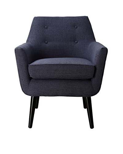 TOV Furniture Clyde Linen Chair, Navy