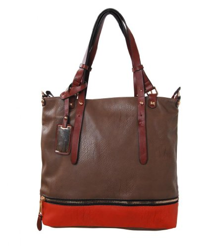 Humble Chic The Lula Bag - Colorblock Leather Tote
