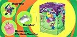 Toy - Party - Helium - Einwegflaschen-Set mit 30 Ballons + Band / Luftballongas