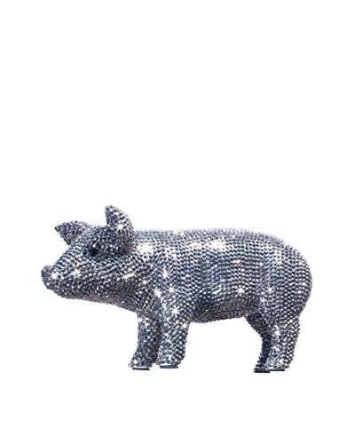 Interior Illusions Rhinestone Piggy Bank, Graphite