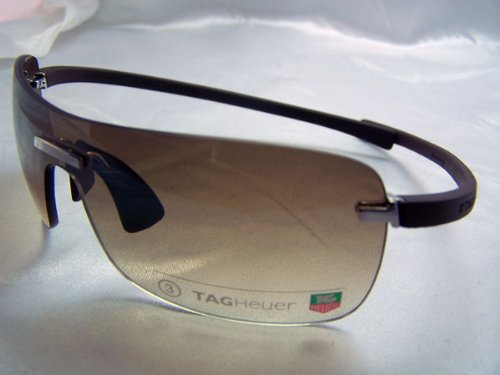484247d1bb9 TAG HEUER RIMLESS CURVE TH 5105 TH5105 202 BROWN RUBBER BROWN GRADIENT LENS  SHIELD SUNGLASSES SHADES
