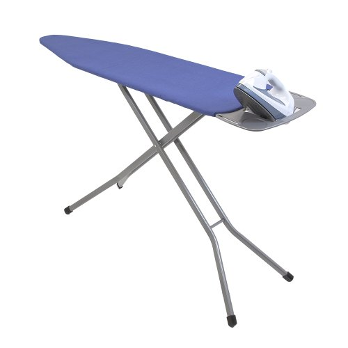 Homz 4750209 Premium Heavy Duty Ironing Board System Almond Leg Chain Stripe