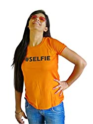 LetsFlaunt #Selfie T-shirt T-shirt Girls Orange Dry-Fit-Small Nw