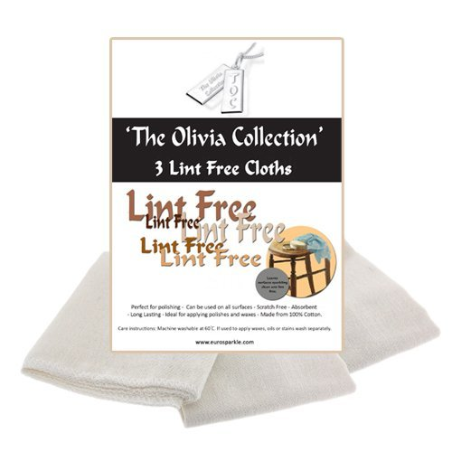 TOC Lint Free Cleaning & Polishing Cloths - Pack of 3, 505mm x 340mm