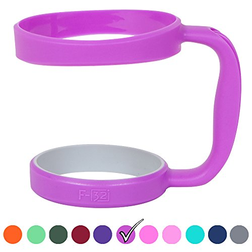 F-32 Color Handle for 30oz or 20oz YETI, RTIC, Ozark Trail, SIC Cup Tumbler & more - 12 colors available Seafoam/Dark Blue Neon Pink/Orange Wine Gray Green & more (30oz, Cool Purple (Pinkish Purple)
