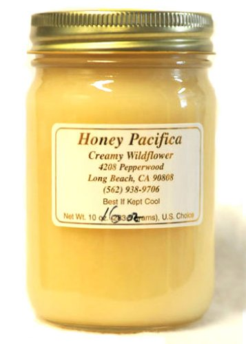 Honey Pacifica Creamy Wildflower Raw Honey, 16-Ounce Cold Packed Jar