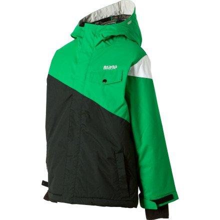 Orage El Nino Jacket - Boys' Black/Green, 7