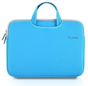 PLEMO Nylon Lycra Fabric 15-15.6 Inch Laptop / Notebook Computer / MacBook / MacBook Pro Case Briefcase Bag Pouch Sleeve, Blue