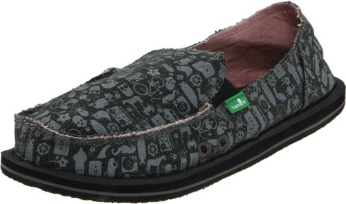 Sanuk Women's Daytripper Slip-On,Charcoal,9 M US