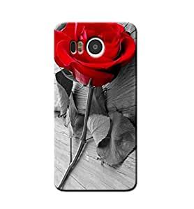 RED ROSE BACK COVER FOR GOOGLE NEXUS 5X