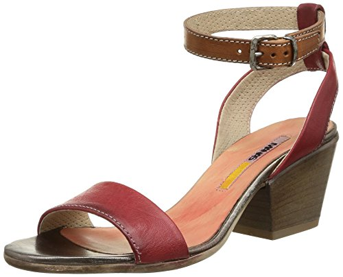 Manas  Clelia,  Sandali donna Rosso Rouge (Rosso/Cuoio) 39