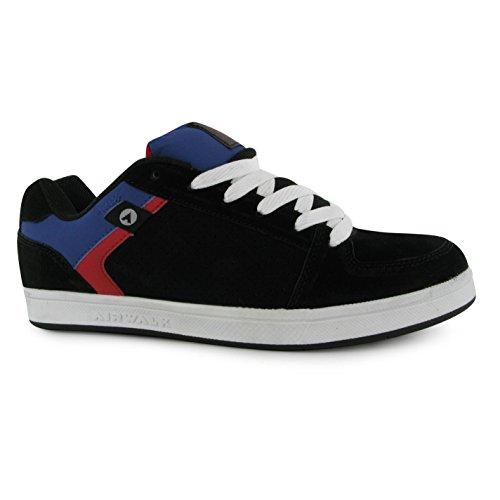 Airwalk Skate Brock Scarpe Casual da uomo, colore: nero/rosso, Sneakers, nero/rosso