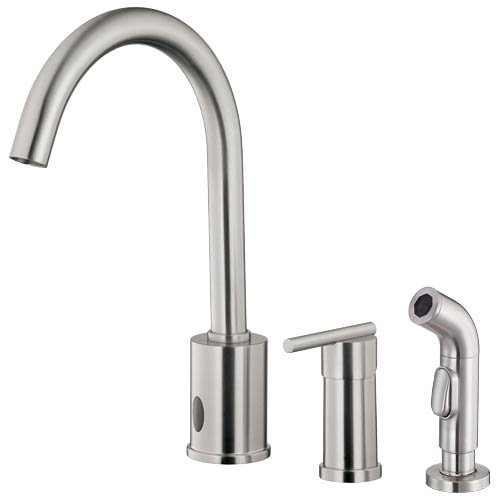 Danze D423058SS Parma Dual Function Kitchen Faucet with Single Handle and Matching Side Spray, Stainless Steel