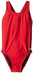 Speedo Big Girls\' Pro LT Youth Superpro Swimsuit, Red, 28