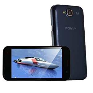 "Onebook POMP W89 Unlocked Black 4.7"" Quad Core 3G SmartPhone Android 4.2 Dual Camera 5MP"