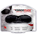 3M ForceFlex 92231-80025 Flexible Safety Eyewear with Gray Lens and Black Full Frame