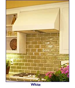 Imperial Wall Canopy Range Hood 30 inch W x 24 inch D x 18 inch H, 750 CFM, Black or White