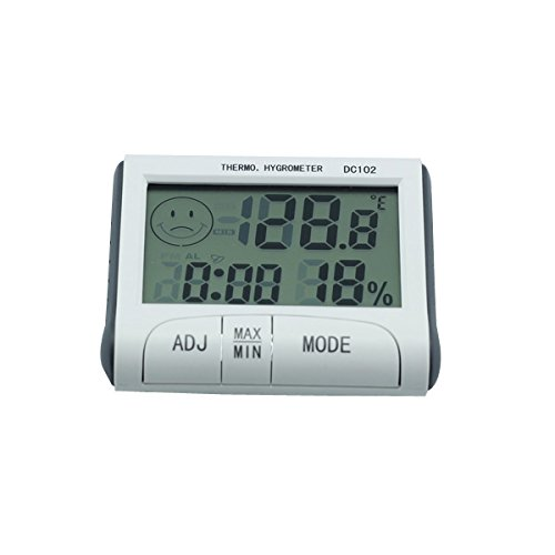 AODE® Digital Desk LCD Indoor Thermometer Hygrometer Humidity Alarm Time Clock Meter 130018