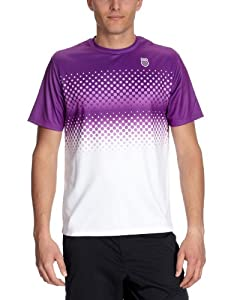 K-Swiss K - Swiss - Camiseta para hombre, tamaño XXL, color blanco / morado