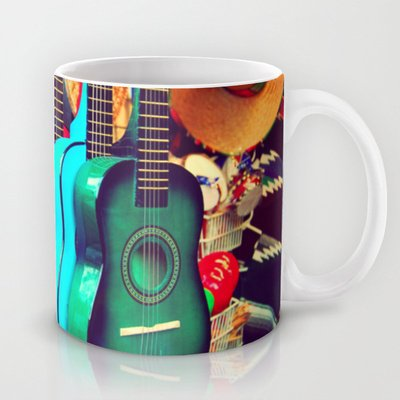 Society6 - Las Guitarras. Spanish Guitars, Los Angeles Photog… Coffee Mug By Myan Soffia