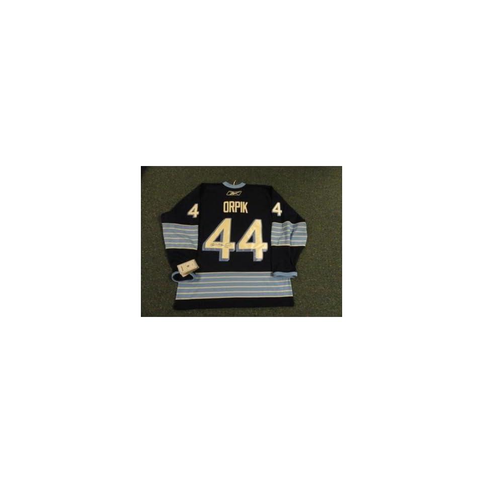 c8eac3cef54 Brooks Orpik Signed Uniform 2011 Winter Classic Licensed Autographed NHL  Jerseys